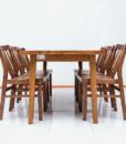 Bộ bàn ăn 6 ghế Nội Thất Nhà Bên NAN 09 (Nâu). 1