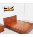 Giường Ngủ Gỗ Xoan Đào Lào Chữ Thọ Vạt Phản Nội Thất Nhà Bên Màu Nâu 160 x 200 cm.,.