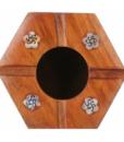 Gạt tàn thuốc lá lục lăng Mỹ Nghệ 14,8 x 10,5 cm.,.