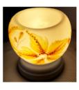 Đèn Xông Tinh Dầu Hình Hoa Ly Vàng Gốm Sứ Bát Tràng 1