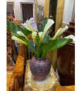 Bình Cắm Hoa Gốm Khắc Tay Trống Đồng OEM 2