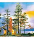 Tranh Treo Tường Phong Cảnh Đẹp Hữu Tình Q6D8 – 17 Thế Giới Tranh Đẹp 1