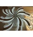 Đèn Trang Trí Ốp Trần Phòng Khách – LED 017 2