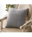 Gối Tựa Lưng Len Cotton Màu Trơn – Xám