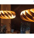 Đèn Gỗ Veneer Trang Trí Thả Trần LS505020-1