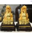 Cặp Tượng Tỳ Hưu Phong Thủy Đá Mạ Vàng-2