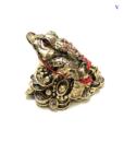 Tượng Thiềm Thừ Vàng Phong Thủy Bằng Đá-1