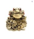 Tượng Thiềm Thừ Vàng Phong Thủy Bằng Đá-3