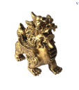 Tượng Tỳ Hưu Phong Thủy Đá Màu Nhũ Vàng-1