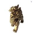 Tượng Tỳ Hưu Phong Thủy Đá Màu Nhũ Vàng-2