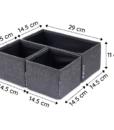 Bộ 3 hộp đựng đồ đa năng không nắp BSN